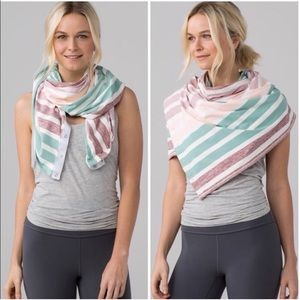 Lululemon Vinyasa Scarf in Pastel Stripes